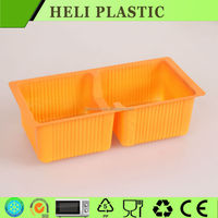 Alibaba China Supplier 2 Grids plastic cookie/biscuit food container
