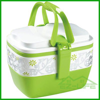 2 layer promotion gift plastic bento lunch box with lock BPA free microwave safe