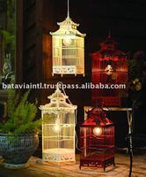 High Quality Wood Hanging Decorative Birdcage
