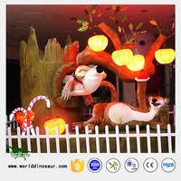 Rubber Life Size Animal Statue for Animal Decoration