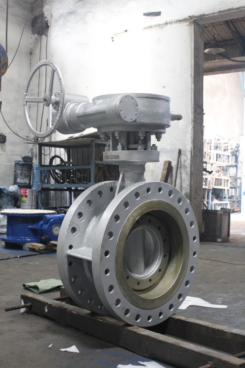 Pneumatic flange aluminium body Duplex Flexible Butterfly Valve