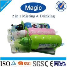 Creative Magic 2 in 1 Misting&Drinking FDA BPA Free Joyshaker Bottle For Protein Shakes