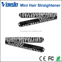 Mini Portable Ceramic Professional Hairstyling Zebra Hair Straightener Flat Irons Styling Tools Four Styles
