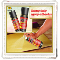 Autokem 400ml hot sale heavy duty spray adhesive, adhesive glue spray, water-based adhesive spray for laminate/fabric/clothing