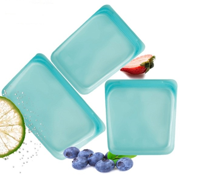Reusable Silicone food storage bag snack Sandwich bags