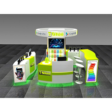 Mall kiosk for cell phone showcase display, mobile phone shop furniture, shop counter design for mobile phone shop decoration
