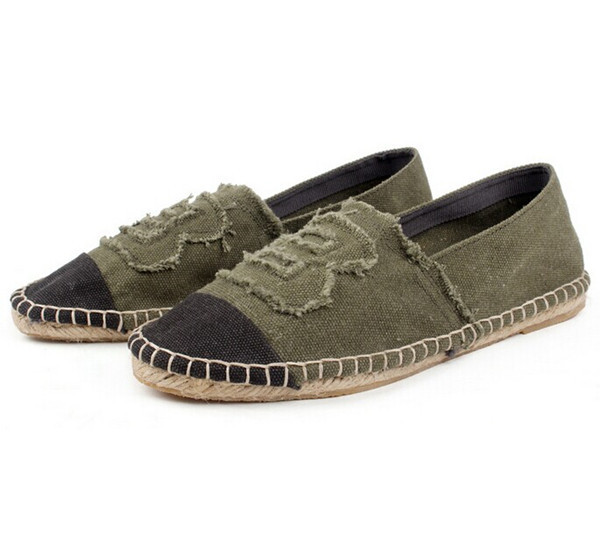 Fashion lady stylish slip on espadrilles canvas shoes for man and women