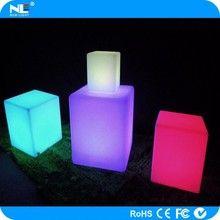 Waterproof outdoor LED light cube / RGB 3D decorative LED cube furniture