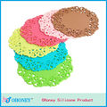 Beautiful silicone cup mat lace flower silicone cup mat bar mat coaster