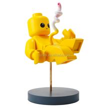 2017 Newest Yellow brickbaby with base figures/Design your own Creative action figure/OEM ABS action figures China Manufacturer