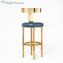 Triumph New gold Lucite Bar Stools, Industrial pub stool, gold-plating hotel chair commercial furniture