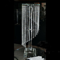 Crystal Beaded Chains 100% Handmade Wedding Crystal Flower Stand
