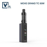 80W temperature control top filling system ceramic coil ego vapor pen starter kit