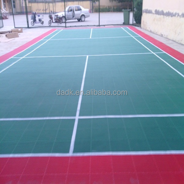 suspended with double layers Anti-UV badminton court flooring material
