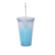 Less Expensive Hard Cups Straws Large Plastic Straw Drinking Cup With Lid