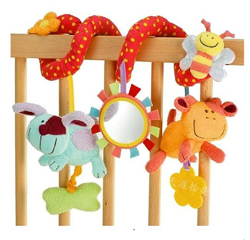 Baby activity bed pram spiral toy hanging plush baby bed hanging toy wholesale