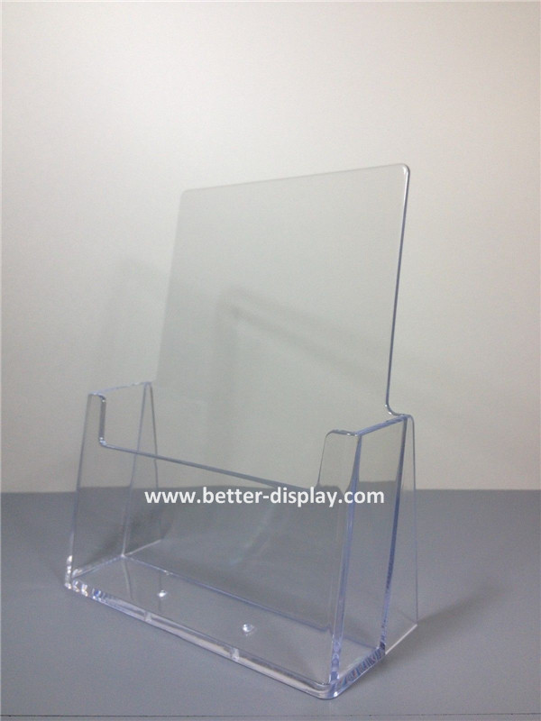 A6 Clear acrylic Half Page Brochure Display Stands