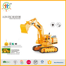 Wholesale interesting 5 ch 1:28 rc construction toy trucks excavator for kids