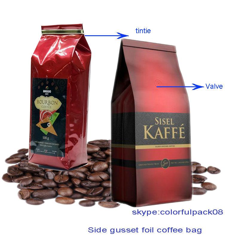 Feuille d 39 aluminium sac de grains de caf avec vanne 16 - Sac de cafe en grain ...