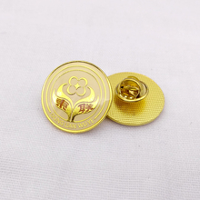 customized company logo gold plated metal lapel pins badge