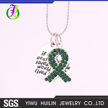 IMG 9176 Yiwu Huilin Jewelry fashion the green silk scarves letter heart long crystal bead necklace