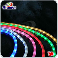 Muti-color chasing 3 wire led rope light for architecture decoration