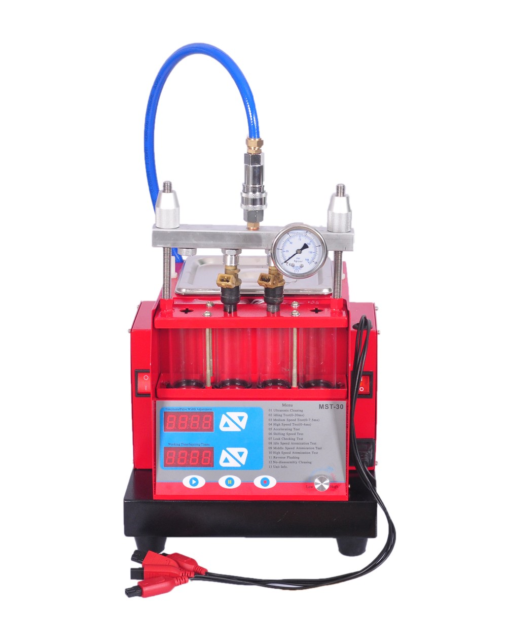 Auto Ultrasonic cleaning Machine Fuel Injector tester and Cleaner MST-30 four 4 Cylinder