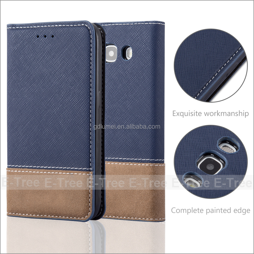 Customized Folio X Wallet Flip Cover Leather Folding Case for Galaxy A5 J1 J5 2016 Cell phone