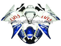 For 05 Yamaha YZFR6 YZF-R6 Wholesale White & Blue Injection ABS Plastic Fairing Body Work