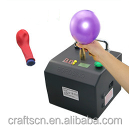 Electric balloon pump inflator for long balloons