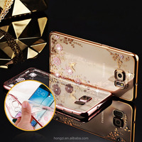 Bling Diamond Clear Case for Pouch Samsung Galay S7 Case Silicone S7 Edge Cover for Samsung S7 /S7 Edge Case Luury TPU