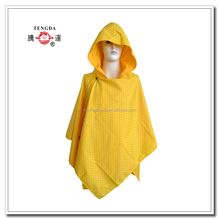 raincoat factory cheap yellow polyester rain cape