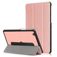 Triple folding leather case cover for LG G Pad 3 10.1 V755, Standing flip case for LG G Pad 3 10.1 V755