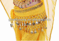 Cheap belly dance children hip scarf, New belly dance hip scarf for kids