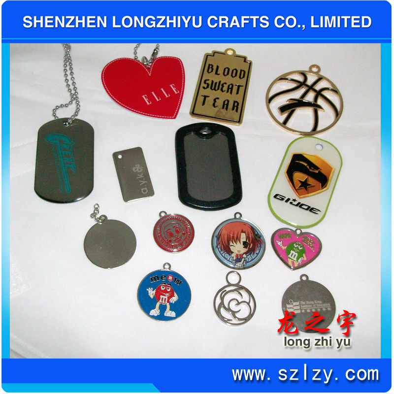 Dog tag locket jewelry in metal crafts
