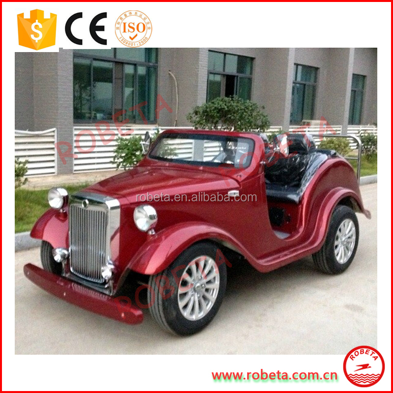 4 seater 48V Elegant vintage mini electric car/tourist bus