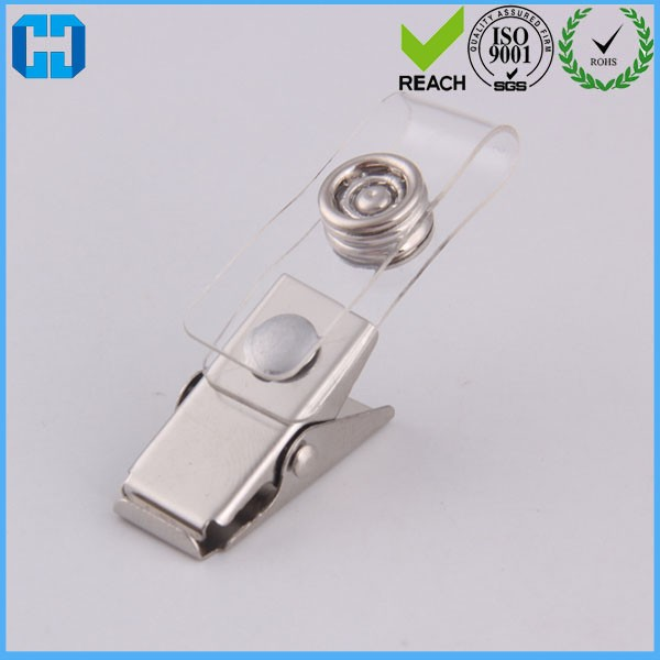 Wholesale Clear Spring Clips Name Tag ID Badge Clips
