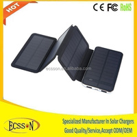 10000mah foldable solar charger, solar mobile phone for travel & camping