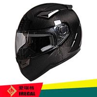 Carbon fibre shell one visor custom full face motorcycle helmet