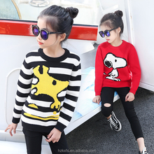 2018 Winter Snoopy Sweater Hand Knit Sweater For Kids