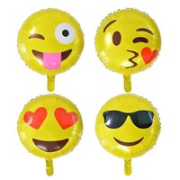 2016 party decoration inflatable 18inch round emoji foil helium balloon
