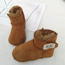 Winter warm shoes Fantastic sheepskin wool baby shoes and boots