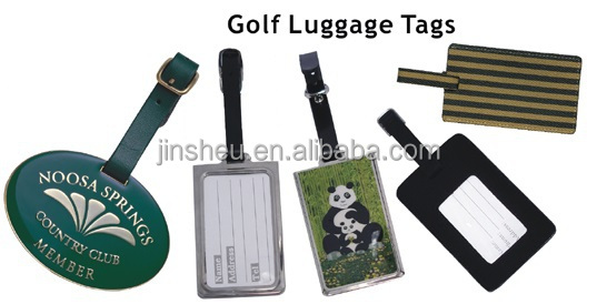 custom made various colored aluminum travel baggage ID tag