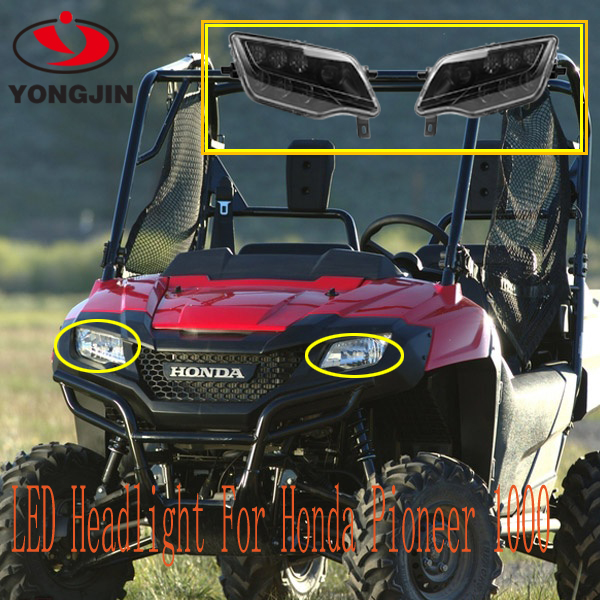 For Honda Pioneer 1000 SXS 1000 ATV UTV led headlight bright headlamp DOT Emark