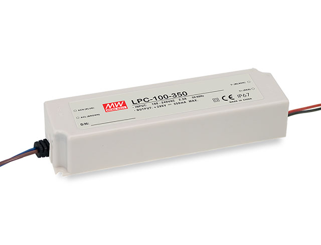 [ Powernex ] Mean Well LPC-100-350 100.1W 350mA C.C. Constant Current LED Power Supply LED Driver