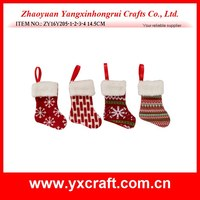 Christmas decoration (ZY16Y205-1-2-3-4 14.5CM) christmas small gift sock, for christmas tree decoration gift hanging ornament