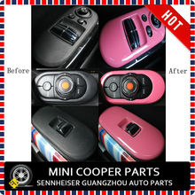 Brand New ABS Plastic UV Protected Mini Ray Style Pink Color window regulator Cover For Mini Cooper F56(3 Pcs/Set)