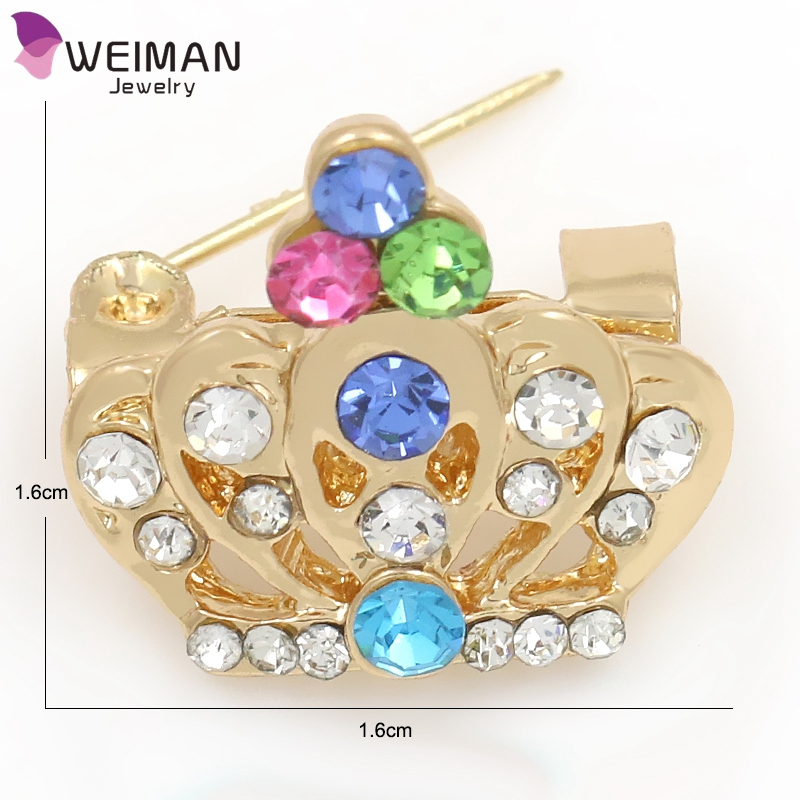 Korean Brooches Pin Fshion Crystal Rhinestone Baby Brooch for Cloth Garment