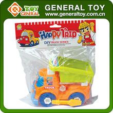 plastic assembly toys car assembled games for kid