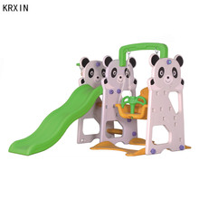 plastic toy children swings with basket and slide